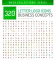 Huge mega collection of letter logo business icons vector image
