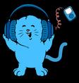 Music Kitten vector image vector image