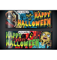 Banners Invite for Halloween Party vector image
