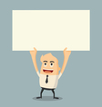 holding paper vector image vector image