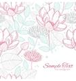 modern line art florals frame corner vector image