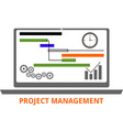 project management vector image vector image