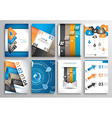 Set of Infographics Flyer and Brochure Designs vector image