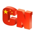 Internet top-level domain of china vector image