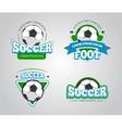 Soccer football badges logos t-shirt vector image vector image