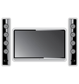 Modern home theater vector image vector image