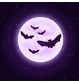 bats with moon Halloween vector image