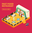 fast food restaurant background vector image