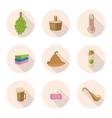flat icons sauna vector image