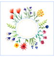 Floral background with frame vector image