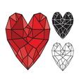 HEART SHAPE4 resize vector image