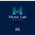 M letter music logo template Creative equalizer vector image
