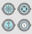 nautical elements collection vector image