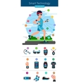 Smart Technology Line Infographic vector image