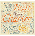 Yacht Charter text background wordcloud concept vector image