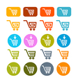 Shopping Cart Basket Web Symbols Icons Set vector image