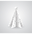 White paper Christmas tree background vector image vector image