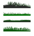 grass elements vector image