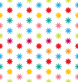 Seamless Floral Texture with Multicolored Flowers vector image