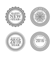 New Year set labels and emblems vector image