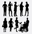 Nurse female silhouettes vector image