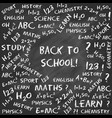 back to school card hand drawn chalk text vector image