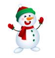 christmas snowman snowman vector image