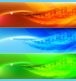 colored wave abstract background for design vector image