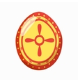 Easter egg icon cartoon style vector image