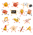 Education Characters Set vector image