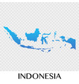indonesia map in asia continent design vector image