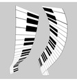 Piano keys for design vector image