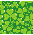 seamless pattern with clover leaf vector image