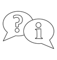 Speech bubbles icon outline style vector image