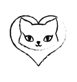Cat breed animal mammal love sketch vector image
