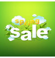 Spring Sale Poster With Green Background vector image vector image