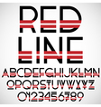 Black and red font with numbers vector image