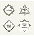 Set of retro vintage badges frames  labels vector image