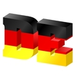 Internet top-level domain of germany vector image