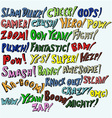 Set of words transmit sound effects vector image vector image