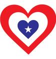 America Heart vector image vector image