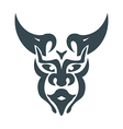 bull man head vector image vector image