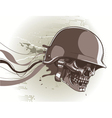 skull with abstract background vector image vector image