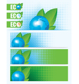 eco planet vector image vector image