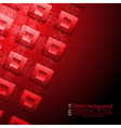 Abstract design with squares vector image vector image