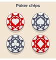 Poker Chips suit vector image