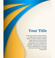 Blue and gold business background modern template vector image
