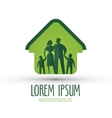 family logo design template house or happiness vector image