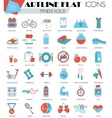 Fitness sport and health ultra modern vector image