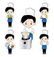 Little boy chef vector image